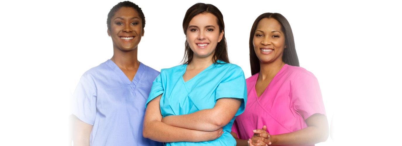 Multi ethnic group of nurses.